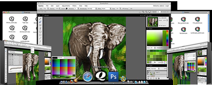 SpeedPaint - online paint & drawing application